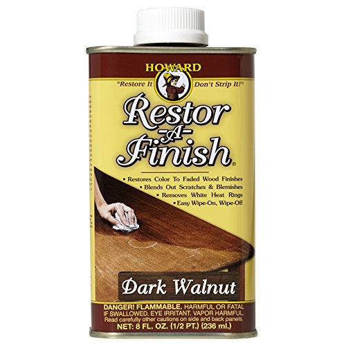 Howard RF6008 Restor-A-Finish, 8-Ounce, Dark (Traditional Dark Walnut Finish Wood)