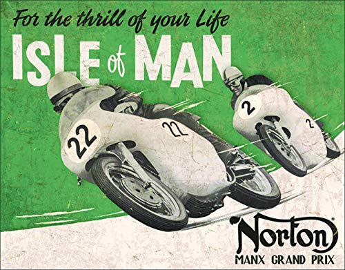 Desperate Enterprises Norton - Isle of Man Tin Sign, 16