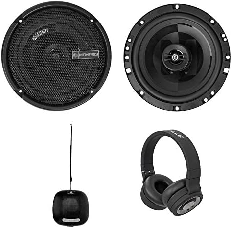 (2) Memphis Audio PRX60 6.75″ 100 Watt Automobile Audio system+Bluetooth Speaker+Headphones