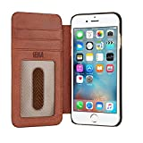 Sena Ultra Thin Wallet Book , Thinnest book style wallet case solution for the iPhone 8 / 7 / 6 (Cognac)