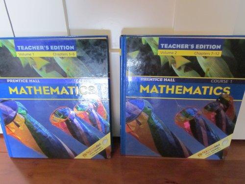 Prentice Hall Mathematics, Course 1: Volumes 1 & 2 (Teacher's Edition)