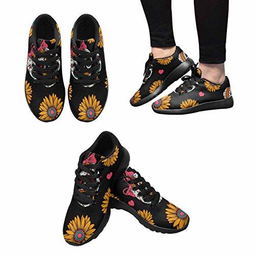 Interestprint Kvinner Jogging Kjører Sneaker Lettvekts Gå Gang Uformell Komfort Joggesko Med Meksikanske Hodeskaller Flere 1