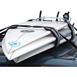 Surfboard Soft Rack LOCKDOWN Premium Surfboard Car Racks by Curve (set of 2)