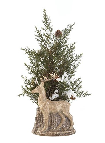 Fennco Styles Holiday Decorative Christmas Deer Pine Spring Topiary (Deer) by Fennco Styles