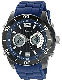 American Design Machine Men's ADS 4003 BLU New York Analog-Digital Display Japanese Quartz Blue Watch
