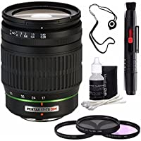 Pentax SMCP-DA 17-70mm f/4 AL (IF) SDM Autofocus Lens for Digital SLR + 3 Piece Filter Kit + Deluxe 3pc Lens Cleaning Kit + Lens Pen Cleaner + Lens Cap Keeper 6AVE Bundle