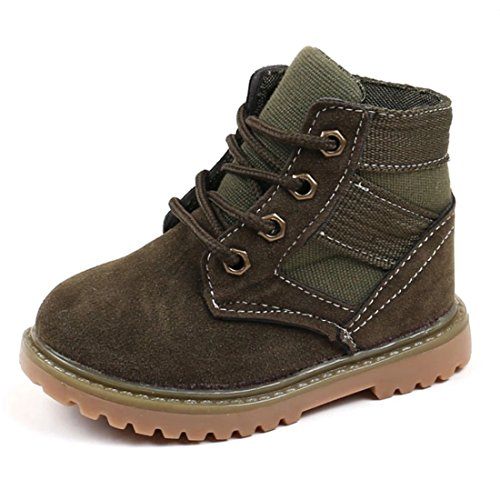 - Tutoo Infant Toddler Baby Boots Kid Boy Girl Rain Hiking Winter Snow Boots (7.5M US Toddler, Army Green)