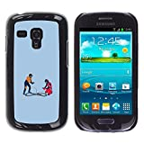 Hard PC Protective Case Smartphone Case Cover for Samsung Galaxy S3 MINI 8190 // Race Car Track - Funny // CooleCell