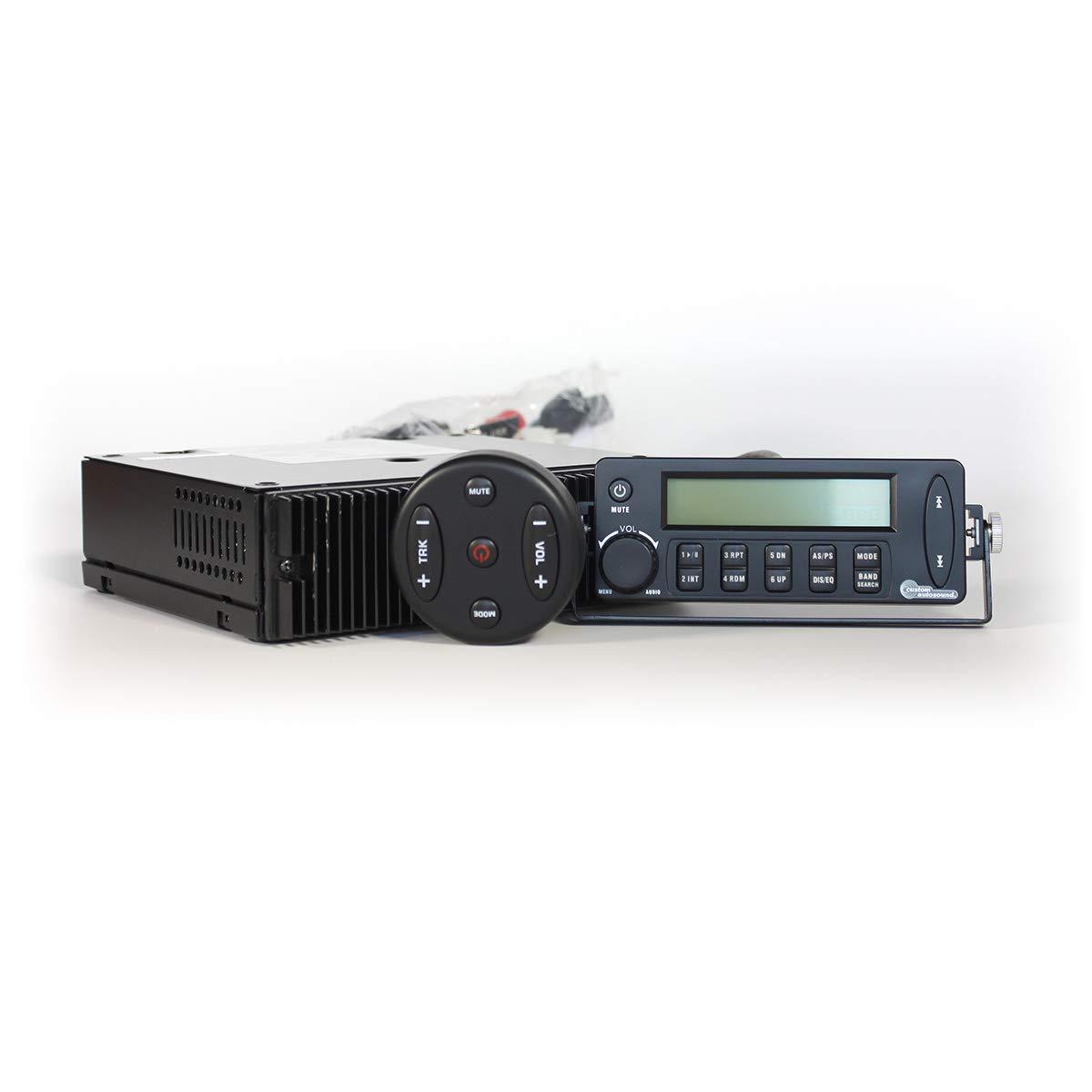 LCD Display CAM-SST-BLU Custom Autosound Bluetooth Enabled Remote Control SECRETAUDIO SST Hidden Stereo Radio 200 watt amp USB MP3//WMA Sub Out
