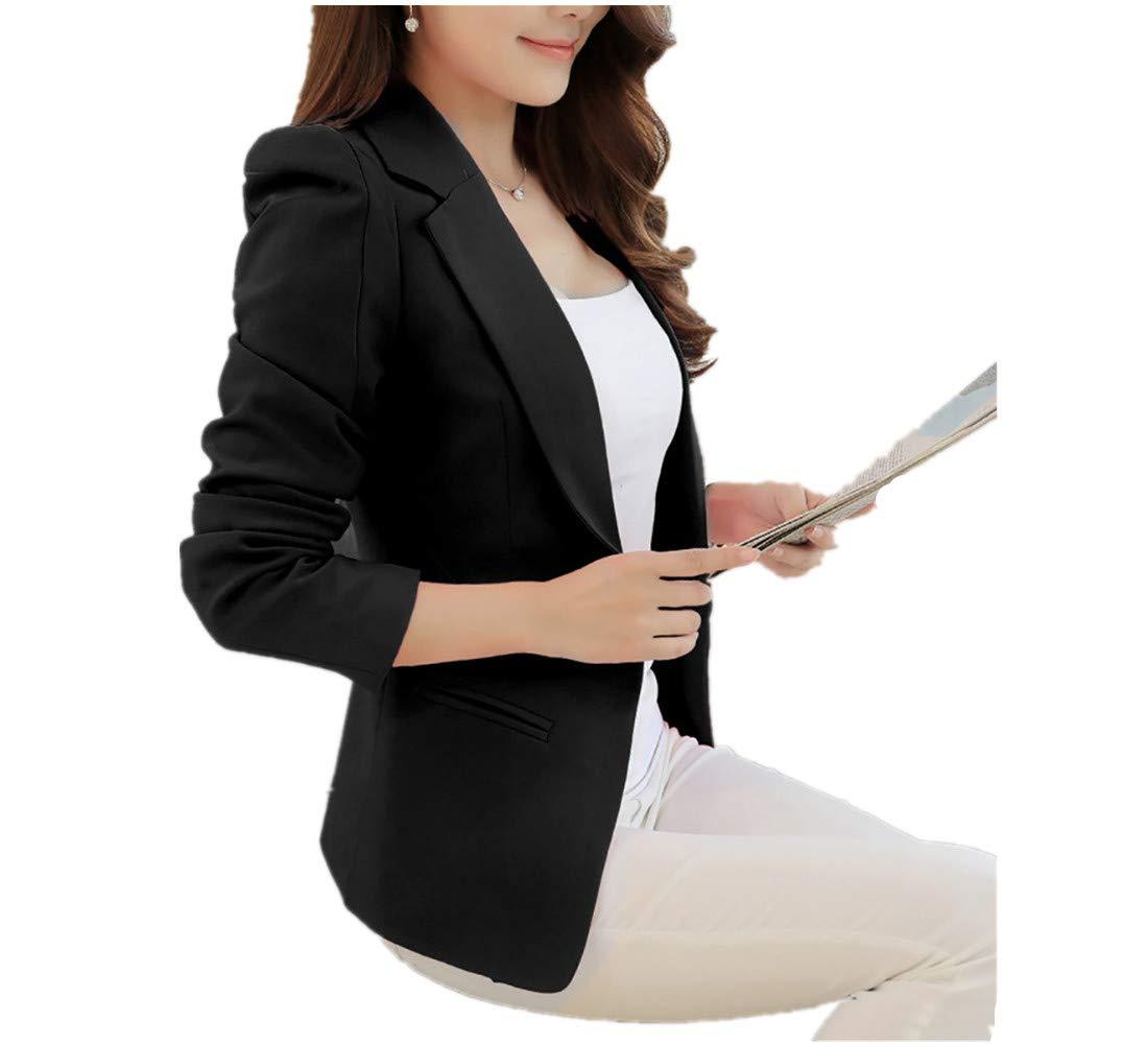 Franterd Women Korean Style Short Suit Office Work Slim Casual Small Suit Coat