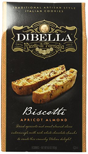 Dibella Biscotti, Apricot Almond, 6.6 Ounce Bag, Pack of 2