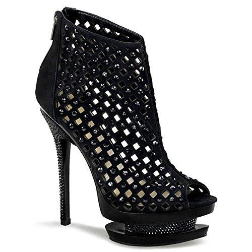 Heels-Perfect - Sandalias de vestir de cuero para mujer negro negro negro - negro