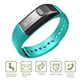 Fitness Tracker Bracelet Vcall I5 Bluetooth Activity Tracker Wristband with Sports Step Counter Pedometer Health Sleep Monitor Smart Message Notification - Blue