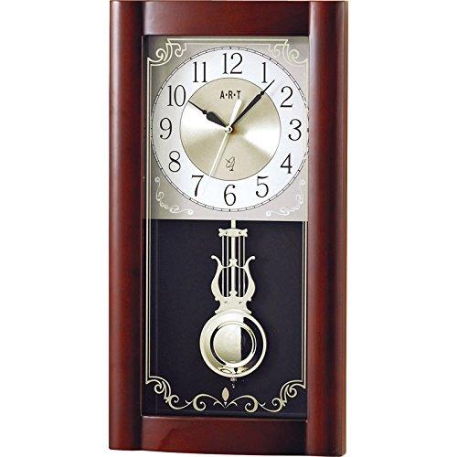 ロイヤル電波時計 【掛け時計 壁掛け 時計 クロック 天然木 木製 時報 振り子 アナログ 電波時計】 B01MSSHINK