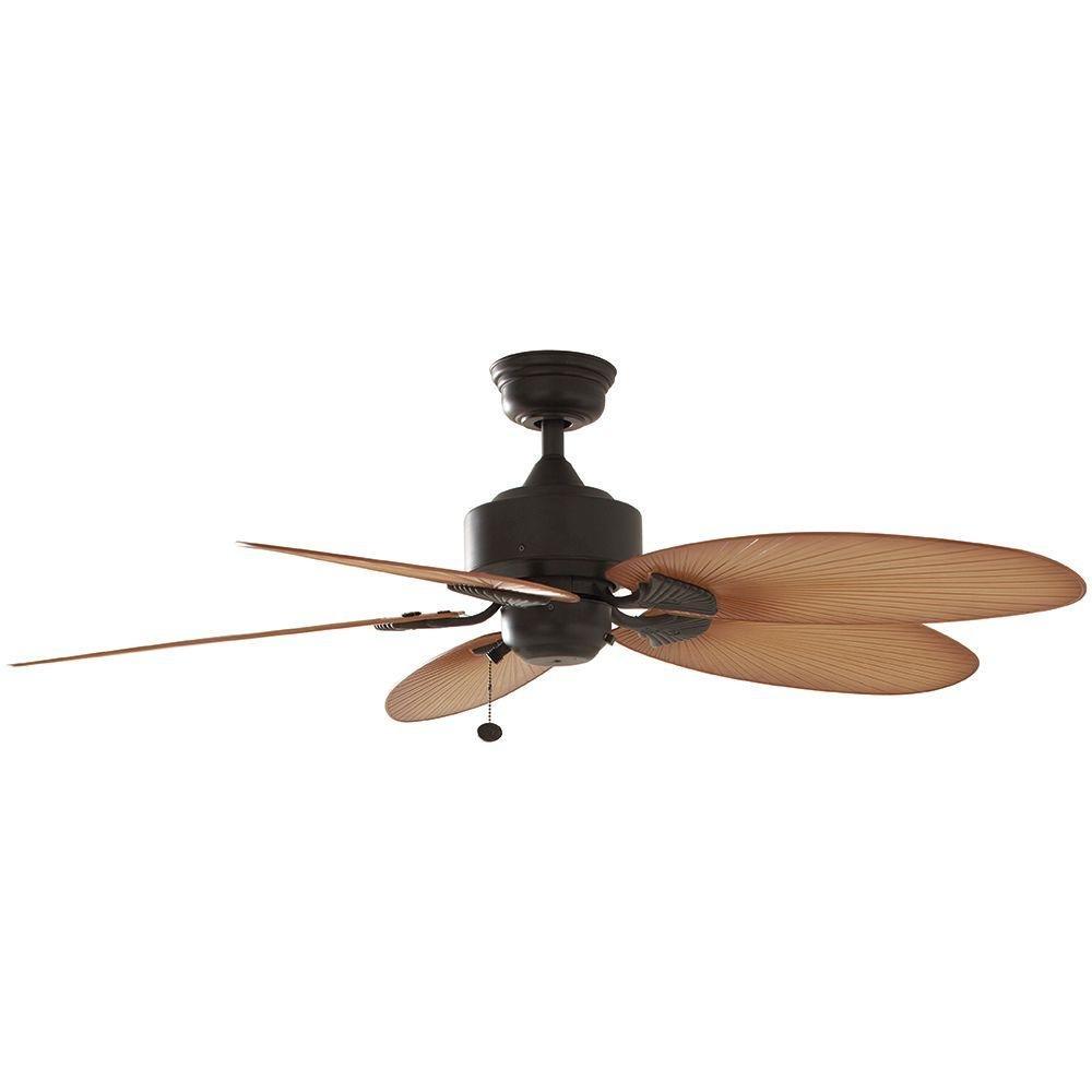"Amazon.com: Hampton Bay Lillycrest 52"" Indoor/Outdoor Aged Bronze Ceiling  Fan - Model # 32711: Clothing"