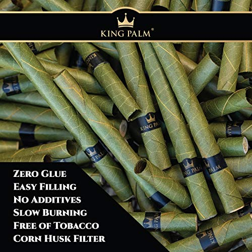 King Palms Mini Size 100% Natural Slow Burning Pre-Rolled Leaves with Filter Tip - No Artificial Flavours (2 Packs, 8 Wraps)