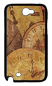 iCustomonline Clock Antique Arrow Texture Hard Back Protective Cover Case for Samsung Galaxy Note 2 N7100 PC Material Black
