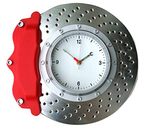 Italian Exotics Boutique Disc Brake Wall Clock with Red Caliper ()