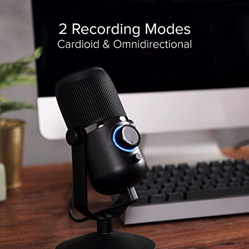 HD Studio Grade Thronmax Dome Plus USB Microphone for Streaming and Recording 96KHz with Dual Pattern Cardioid and Omni-directional Modes Plug and Play with PC//MAC//PS4