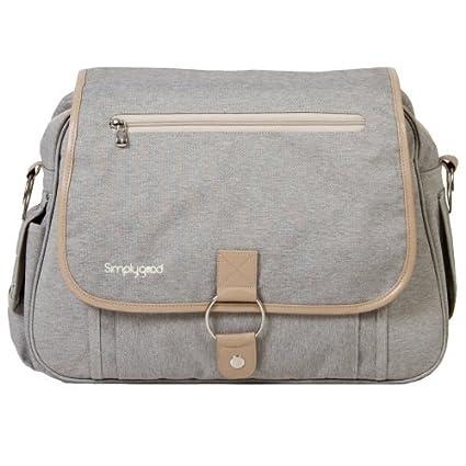 Simply good, Classic bolsa de pañales, color gris y camel