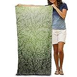 DEFFWBb Super Absorbent Beach Towel Branches Wood Polyester Velvet Beach Towels 31'' X 51'' Inch