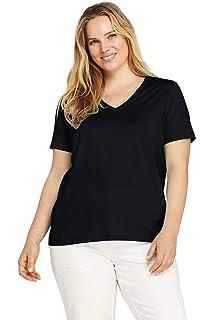 Women/'s Lands/' End Long Sleeve cotton leave print shirt Size XS