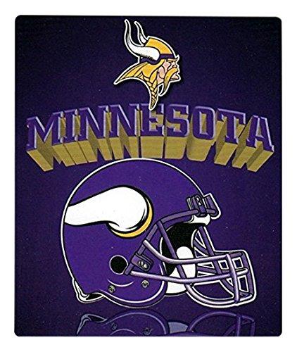 "The Northwest Company NFL Minnesota Vikings Gridiron Fleece Throw, Purple, 50"" x 60"""