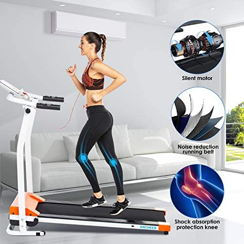 ANCHEER Treadmill, Electric Treadmills for Home with LCD Motorized Running Walking Jogging Exercise Fitness Machine Trainer Equipment for Home Gym Office 2