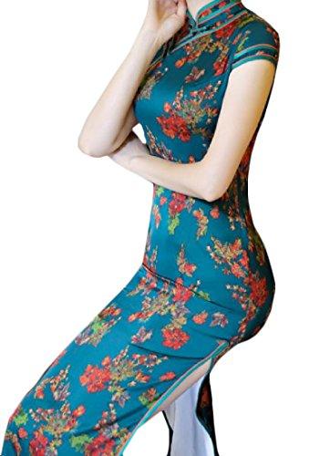 Fessura Coolred Di Cinese Collare Abbigliamento Stand Di 2 Lato Cinese Stile donne Floreale wrOfwx8q