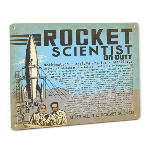 ShopForAllYou vintage decor wall signs Rocket Scientist SIGN for Flying Model Rocketry Toy Saturn V Engines Science Kit