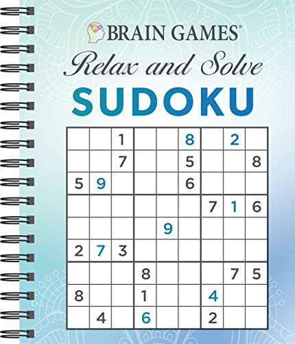 Brain Games - Relax and Solve: Sudoku (Blue)