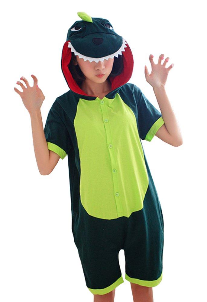 Tonwhar Summer Cartoon Animal One Piece Pajamas Cosplay Costume Adult Sleepwear (XL(181-190cm), Dinosaur)