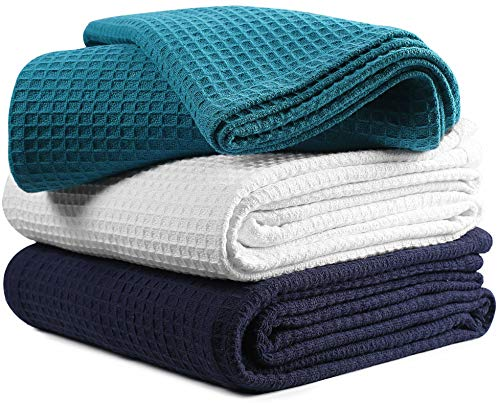 soft cotton thermal blanket waffle