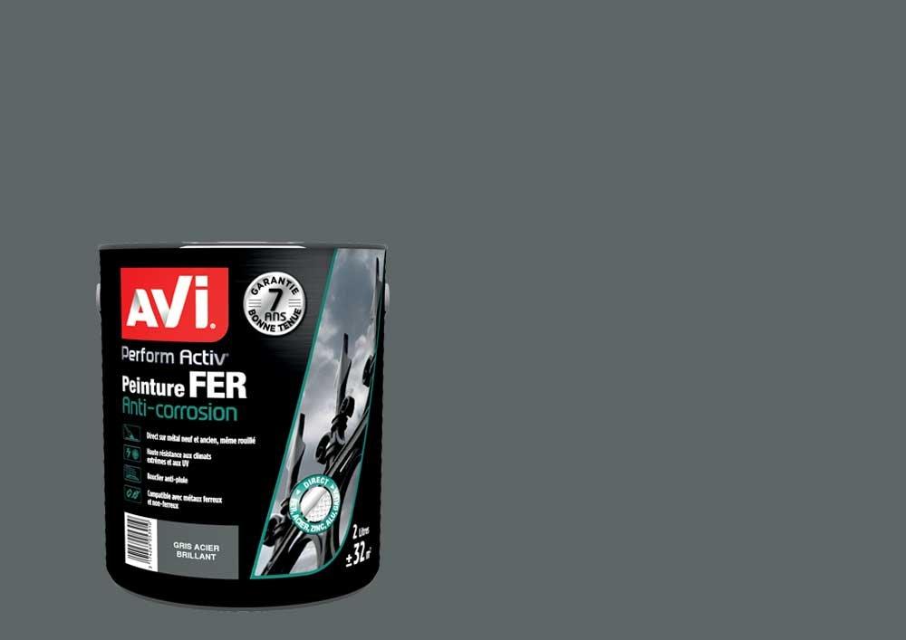 Peinture Fer, Avi Perform Activ - Noir Brillant, 2L PPG 371620