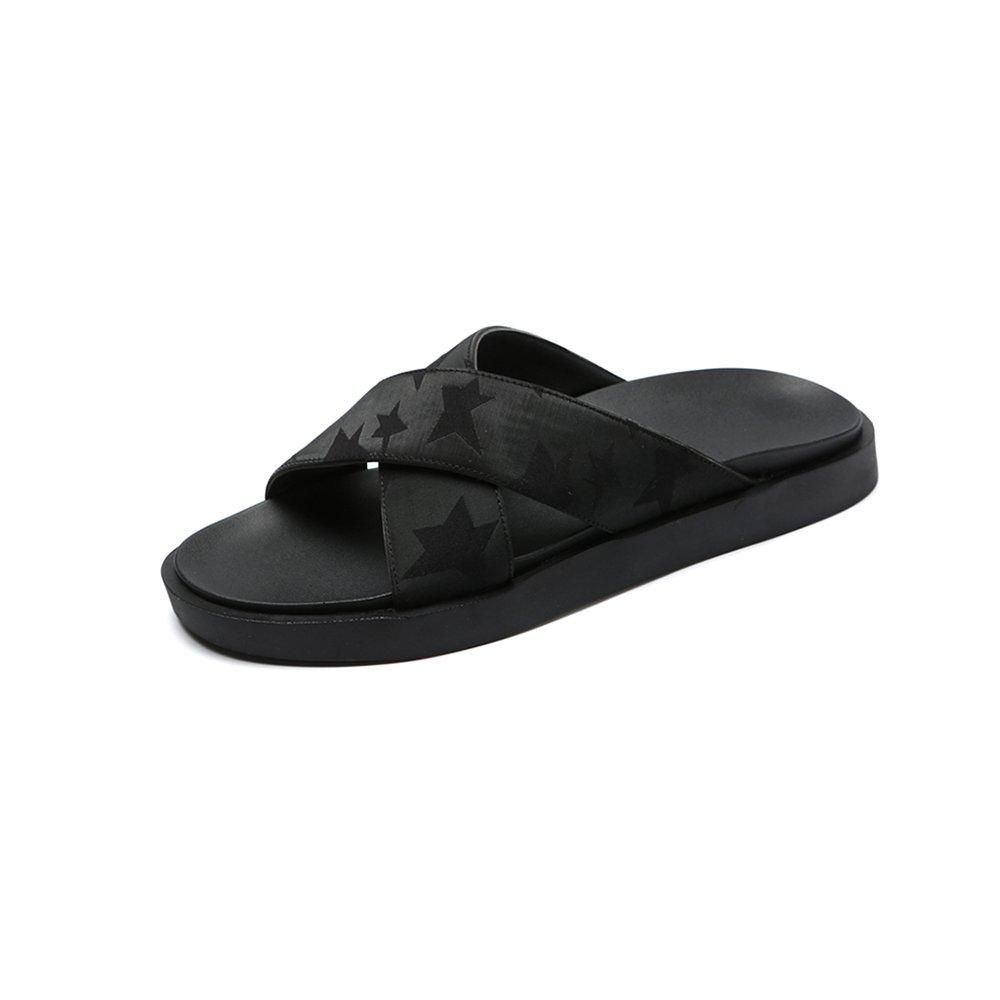 YQQ Hausschuhe Strandschuhe Trend Herrenschuhe Sandalen Im Freien Lässige Schuhe Sommer- Ferienschuhe Persönlichkeit Mode Rutschfest Sommer- Schuhe Gemütlich Atmungsaktiv (Farbe : 2, Größe : EU39/UK6.5) 2 727c88