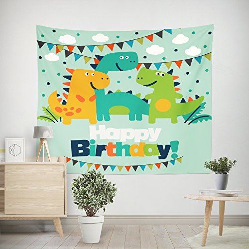 DPIST Dinosaur Photo Booth Backdrop for Pictures Birthday Party Studio Props-Also Can Be Used As Tapestry Home Wall Decoration