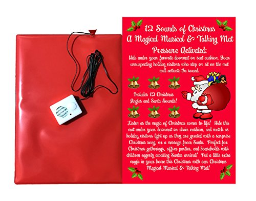 TheGag Christmas Doormat -12 Musical Sounds of Christmas with 6 Awesome Santa Sounds and 6 Famous Christmas Musical Jingles-Hide This Pressure Sensitive Doormat for Holiday Fun -