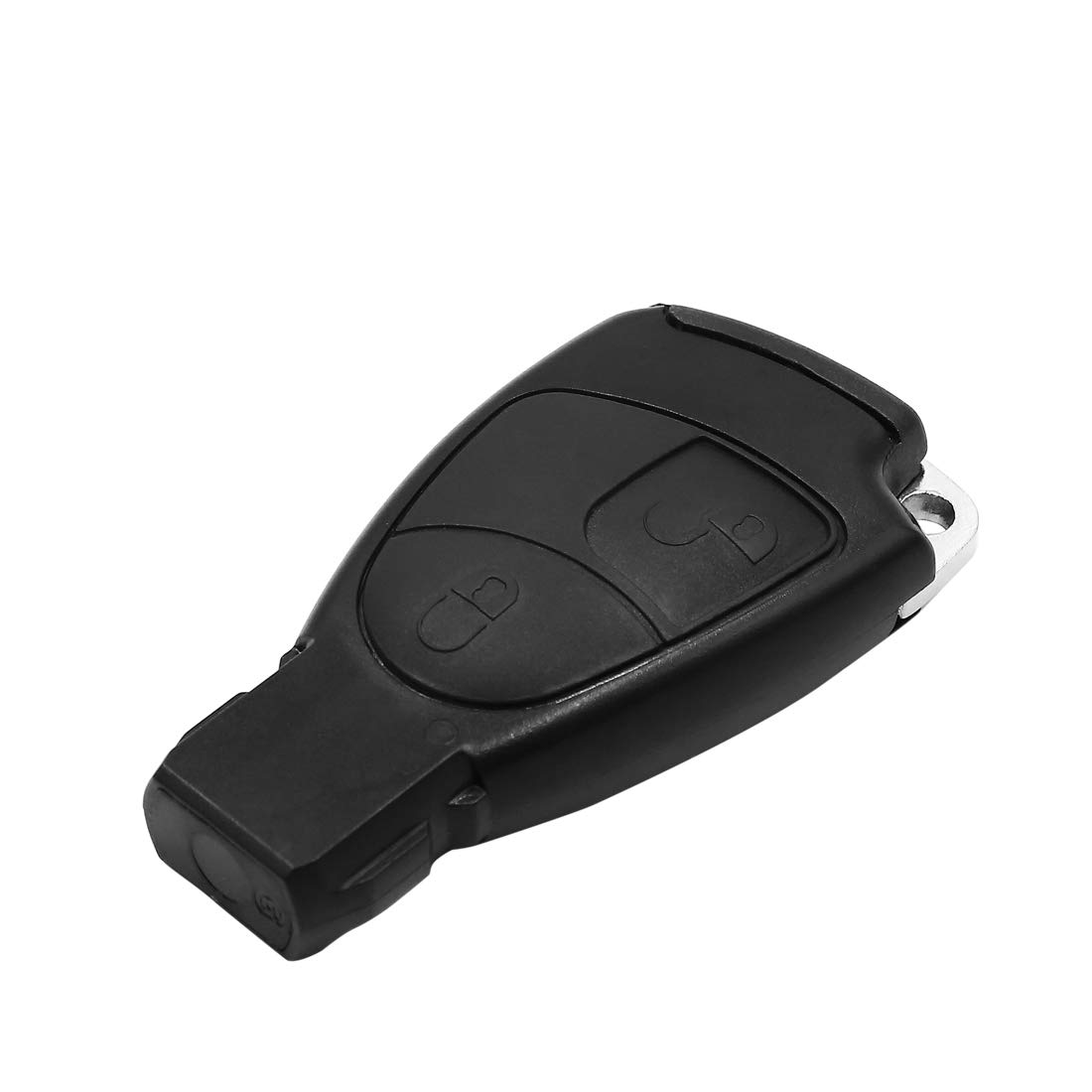 uxcell 2 Button Car Remote Key Fob Case Shell Cover with Uncut Blade for Mercedes Benz