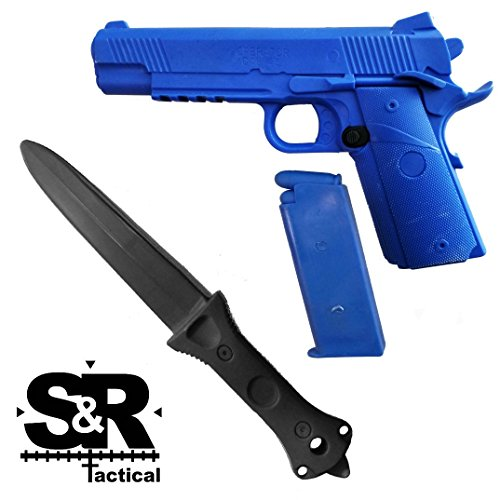 S&R Tactical - Training Gun and Knife Combo Pack 1911 (Blue/Black)