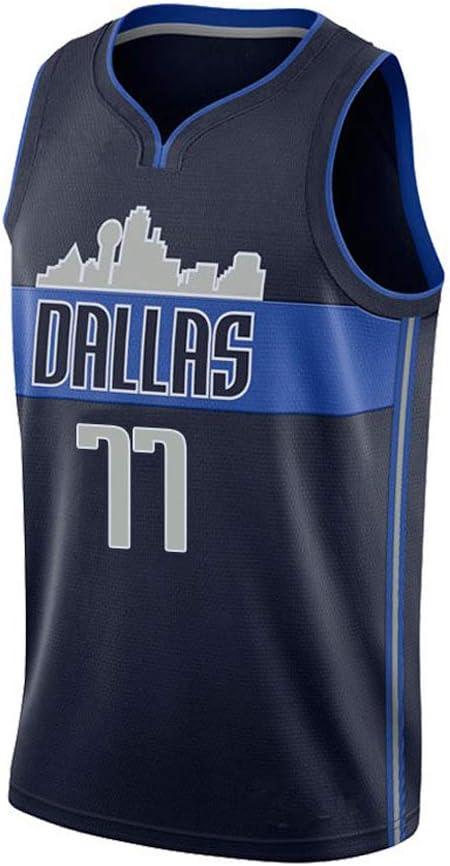 ZXZXING Maillot de Basket-Ball pour Homme Maillot Dallas Mavericks avec Uniforme de Basket-Ball /à Puce T-Shirt Maillot de comp/étition dentra/înement Maillot Swingman