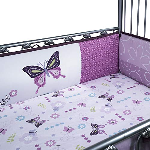 Lambs & Ivy Crib Bumper, Butterfly Lane, 4 Count by Lambs & Ivy
