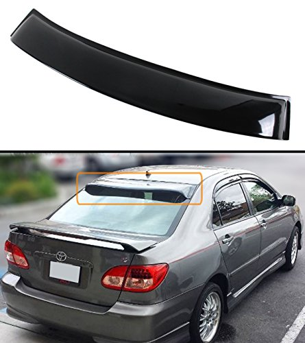 Tinted Rear Windows (FOR 2003-2008 TOYOTA COROLLA JDM SMOKE TINTED REAR ROOF AERO RAIN SUN WINDOW VISOR)