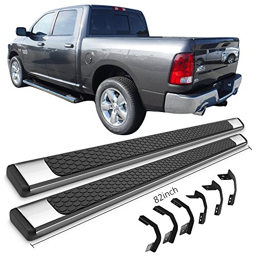 Running Boards Fits 2009 2018 Dodge Ram Crew Cab Ram Oe Style Chrome With Black Stainless Steel 82inch Side Step Bars Nerf Bars By Ikon Motorsports 2010 2011 2012 2013 2014 2015 2016 2017