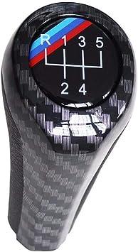 Jerome10Dan Gear Shift Knob Carbon Fiber High light 5 Speed 6 Speed Manual Car Gear Shift Shifter Knob For BMW E46 E53 E60 E61 E63 E65 E81 E82 E83 E87 E90 E91 E92 1 3 5 6 Series X1 X3 X5