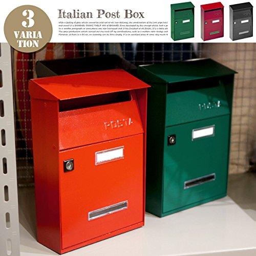 LCLイタリアンポストボックス(Italian post box) グレー B072LMWC6G グレー グレー