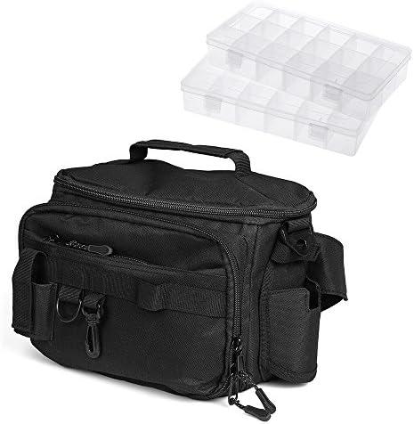 Lixada Multifunctional Fishing Tackle Bag Fishing Shoulder Bag Pack Fishing Waist Bag
