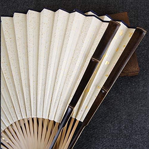 9.5寸18方紫竹有节扇骨苏工洒金宣纸折扇礼品文玩扇送扇套扣扇盒