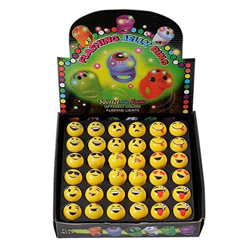 KUMEED Bright Flashing Emoticon Rings product image