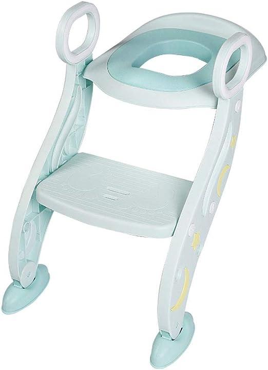 Orinal Infantil Escalera de los niños Aseo Silla de bebé Aseo Escalera de bebé WC arandela de bastidor Cubierta niño varón y hembra Artefacto entrenamiento insignificante del asiento de tocador con ta: