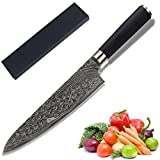 AUGYMER 8 Inch High Carbon Stainless Steel Chef's Knives with Case and Gift Box, (AUCK534)